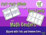 Master Part Part Whole and Fact Family with Math Centers.