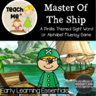 Master of the Ship: A Sight Word or Alphabet Fluency Game