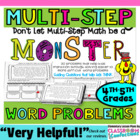 Mastering Multi Step Word Problems {Helping Kids Learn to THINK}