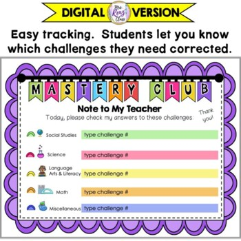 Mastery Club  Great for Challenging &amp; Differentiating f