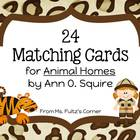 Matching Cards for Animal Homes