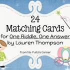 Matching Cards for One Riddle, One Answer