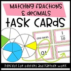 Matching Fractions & Decimals