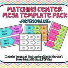 Matching Game Mega Template Pack *For Personal Use*