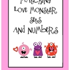Matching Love Monster Themed Sets and Numbers