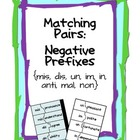 Matching ~ Negative Prefixes
