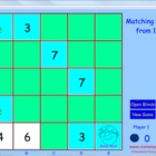 Matching Pairs Number Game - Game 1  FREE IN PREVIEW