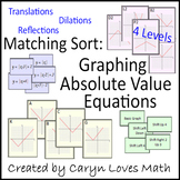 Matching Sort:Absolute Value Graphs-Translation,Reflection