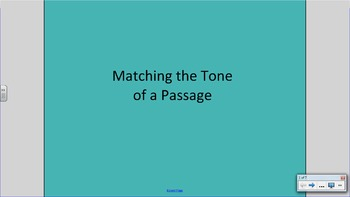 Matching the Tone of a Passage
