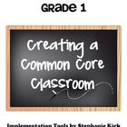 "Math 1 Common Core  Mastery Checklists, ""I can"" Posters, S"