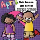 Math 1st Grade CC- No Prep Review, Practice, & Games: April