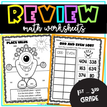 Math Common Core Printables Worksheets Great for Centers and Assessments