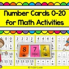 Math Activities and Games~ Number Cards 0-20