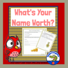 Math Activity - What is Your Name Worth?