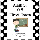 Math Addition 0-9 Timed tests