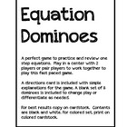 Math: Algebra One Step Equations Dominoes