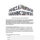 MATH AND LANGUAGE ARTS WORKSHEET