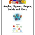 Math Angles and Figures Integrated Geometry Unit, Activiti