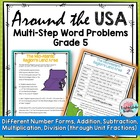 Math Around USA Division w Regions, Coastlines & Land Area 5NFB7