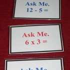 Math Ask Me Cards