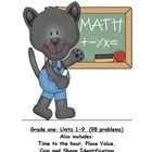 Math Assessment Grade 1, Meets Common Core Standards Trimester 2