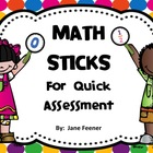 Math Assessment Sticks