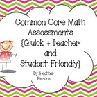 Quick and Easy Common Core Math Checks