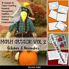 Math Attack! Vol 2, Oct and Nov - Aligned with the Common Core