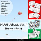 Math Attack! Vol 4, Feb and Mar - Aligned with the Common Core
