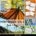 Math Attack! Vol 5, Apr and May - Aligned with the Common Core