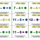 Math Basic Operations Flash Cards