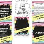 Math Binder Covers, Labels & Spines {2nd/3rd grade CCSS +