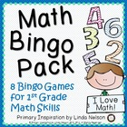 First Grade Math ~ Math Bingo Bundle