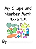 Math Book for Teaching Shapes and Numbers 1-5