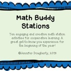 Math Buddy Stations - Cooperative Learning Fun for the Beg