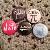 Math Button Variety Set of 5 (Set #2)