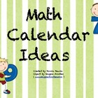 Math Calendar Ideas