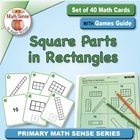 Math Card Activities for CCSS 2.G.2 Partition Rectangles t