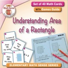 Math Card Activities for CCSS 3.MD.7a Understanding Area o