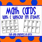 Math Cards with and without Ten Frames