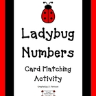 Math Center 0-10 Matching Card Game~ Ladybugs