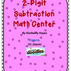 Math Center: 2 Digit Subtraction Center (Valentine Theme)