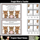 Math Center -- Beary Sweet Valentines (counting by 5's)