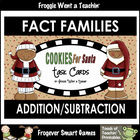 Math Center -- Cookies for Santa (fact families)