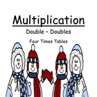 Math Center Game Multiplication &quot;Double Your Doubles&quot; 4 Ti