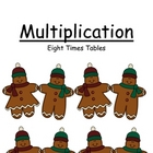 Math Center Game ~ Multiplication Eight Times Tables ~ 52 Pages!