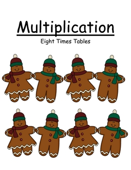 Multiplication Eight Times Tables Center Game