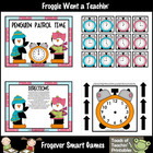 Math Center -- Penguin Patrol Time (time)