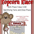 Math Center Popcorn Place Value Envelope Game