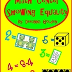 Math Center  Showing Equality